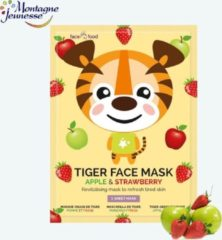 Montagne 7Th Heaven - Face Food Tiger Face Mask Revitalizing The Refreshing Mask In The Faeces To Score From Apple & Strawberry 1Sz