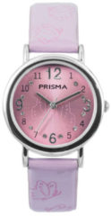 Coolwatch by Prisma CW.311 Kinderhorloge Butterfly staal/leder paars 29 mm