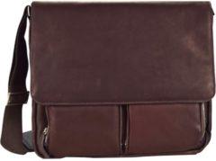 Messenger Leder 40 cm Laptopfach Dermata braun