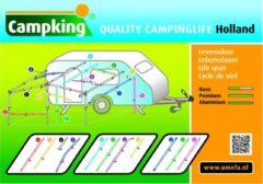 Zilveren Campking tentstok twister aluminium 28/25/22 - 90-230cm K