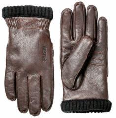 Hestra - Deerskin Primaloft Rib - Handschoenen maat 11, grijs/bruin/zwart