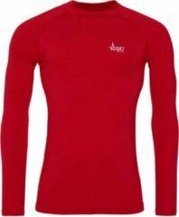 FitProWear Cool Longsleeve Baselayer Rood Heren Maat XXL - Lange mouw - Sportkleding - Sportshirt - Trainingskleding - Polyester - Shirt - Slim Fit