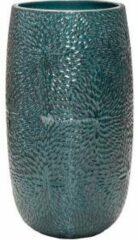 Donkerblauwe Ter Steege Hoge Pot Marly Ocean Blue ronde blauwe bloempot voor binnen en buiten 36x63 cm