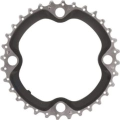 Zilveren Shimano kettingblad SLX - 32 tanden - 4 arm - Zwart / Zilver - FC-M660