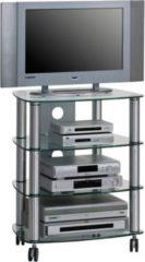 Maja TV- und HiFi-Rack Kama, ca. 60x74x47 cm, alu/klarglas