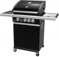 Zwarte Patton Patio Chef 3+ Burner Gasbarbecue - 3 Branders - Nova Black