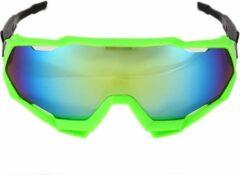 Groene Merkloos / Sans marque Fietsbril sportbril wandelbril sportief