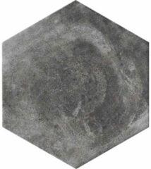 Cir Miami Vloertegel 24x27.7cm 10mm vorstbestendig Pitch Zwart Mat 1513585