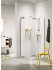 Zilveren Sealskin Get Wet Custom swingdeur links met zijwand 100x195cm zilverhoogglans helder glas CP18100D260100
