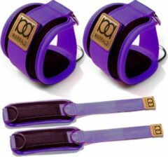 Marrald Enkelband Fitness 2 Stuks - Ankle Cuff - kabelmachine sport beenband strap - Paars
