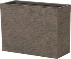 Beliani Bloempot donkerbruin rechthoekig 25x60x45 cm EDESSA