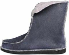 Donkerblauwe Van Buren Bolsward BV Schapenvacht pantoffels - Lamsvacht hoge pantoffels - Grijs - Maat 45