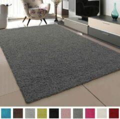 Loca Impression Shaggy Vloerkleed Grijs Hoogpolig- 80x150 CM