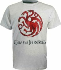 Grijze Game Of Thrones Game of Thrones Dragon T-Shirt Licht en Donkerkleurig N.v.t. Unisex T-shirt Maat L