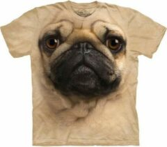 Beige The Mountain KIDS T-shirt Pug Face Unisex T-shirt Maat L