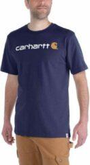 Blauwe Carhartt Core Logo Navy S-S T-Shirt Heren