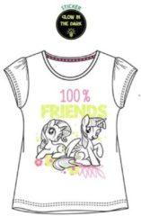 My Little Pony - Kinder/kleuter - t-shirt - Glow in the dark - wit - maat 104