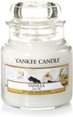 Creme witte Yankee Candle Medium Jar Geurkaars - Vanilla