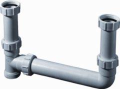 Walraven dubbele sifon Duplex, PP, uitwendige buisdiameter afvoer 40mm