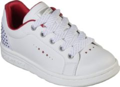 Rode Skechers Omne Sneakers Meisjes - White Red - Maat 33