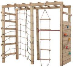 Bruine Intergard Houten speeltoestel klimtoren King Kong 240x120x220cm