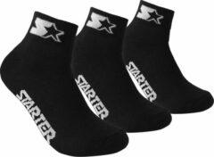 Starter - 3-Pack Quarter Socks - Zwart - Algemeen - maat 35 - 38