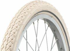 Creme witte AMIGO Ortem Boost buitenband - Fietsband 18 inch - ETRTO 47-355 - Met reflectie - Crème