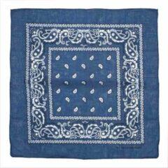 Attitude Holland Bandana Denim Blue Paisley Print Mondkapje Blauw