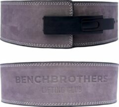 Benchbrothers Powerlifting riem nubuck - lever belt - powerlifting belt - halter riem - Grijs - M