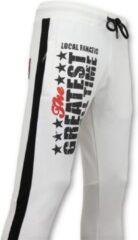Local Fanatic Exclusieve Sweatpants Heren - Muhammad Ali Trainingsbroek - Wit - Maten: S