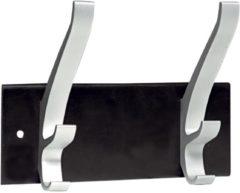 Kapstok wand Unilux Cypres 2 haken metallic grijs