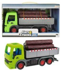 Toitoys Toi-toys Frictie Vrachtwagen Met Boomstammen Groen 33cm