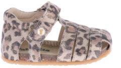 Beige Falcotto Alby sandalen glitter panterprint