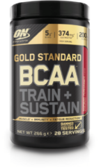 Optimum nutrition Gold Standard BCAA Train - 266 g (28 doseringen) - Raspberry en Pomegranate
