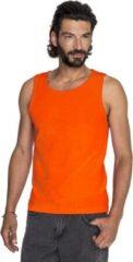 Gildan Oranje casual tanktop/singlet voor heren - Holland feest kleding - Supporters/fan artikelen - herenkleding hemden M (50)