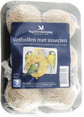Vogelbescherming nederland vetbollen met insecten (6 stuks op schaal)