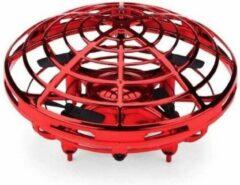 Jumalu Mini RC UFO Drone - Quadcopter - Helikopter - Speelgoed - Zwevende UFO - 4 Propellers - USB oplaadbaar - Rood