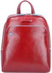 Blue Square Rucksack Leder 28 cm Piquadro red