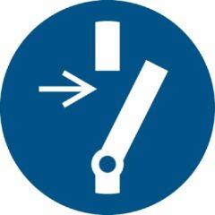 Blauwe Tarifold Pictogram bordje Verplicht vrijschakelen voor onderhoud | Ø 200 mm - verpakt per 2 stuks
