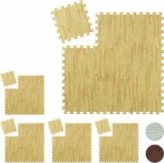 Naturelkleurige Relaxdays 45 x vloerbeschermer puzzelmat - beschermmat fitness - sportmat - puzzel mat