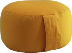 Meditatiekussen Lotus Design geel 10 cm