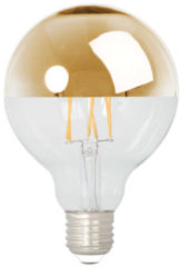 Calex globelamp kopspiegel LED filament 4W (vervangt 40W) grote fitting E27 goud 95mm