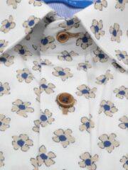 Kaki Bos Bright Blue 20107WO37BO Casual overhemd met korte mouwen - Maat M - Heren