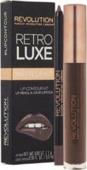 Makeup Revolution Retro Luxe Metallic Lip Kit - Glory