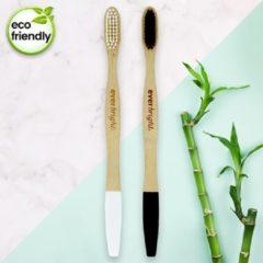 Bamboe tandenborstels - 2 stuks | Everbright. YOU & ME bamboo tandenborstels | 100% Bamboe tandenborstel | Charcoal tandenborstels | Natuurlijke tandenborstel | Wittere tanden - Zacht/Medium