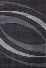 Antraciet-grijze Impression Carpets Relax Basic Vloerkleed Antraciet / Grijs Laagpolig - 80x150 CM