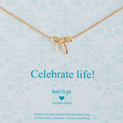 Heart to Get N22BOW12R Ketting Bow Celebrate Life zilver rosekleurig