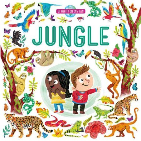 Afbeelding van Massamarkt Kinderboeken Rebo Dieren - Wereld om ons heen Jungle karton