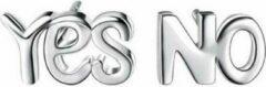 Geshe Oorbellen knopjes zilveren oorbellen yes en no S925
