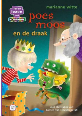 Afbeelding van Basic Boek AVI M3 Leren Lezen met Kluitman Poes Moos en de Draak